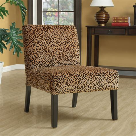 animal print chairs uk leopard print espresso finish accent chair contemporary