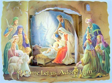 free printable nativity scene christmas cards lot of 10 nativity scene jesus birth 3d catholic pop up