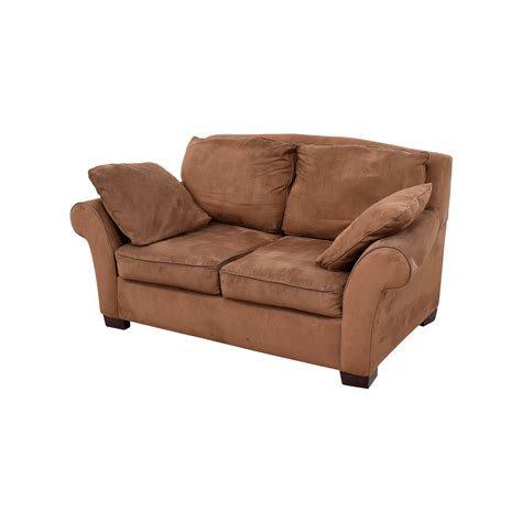 Curved Sofas And Loveseats 90 Brown Curved Arm Loveseat Sofas