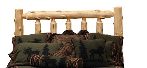 log headboard hickory king log headboard from fireside lodge 80020