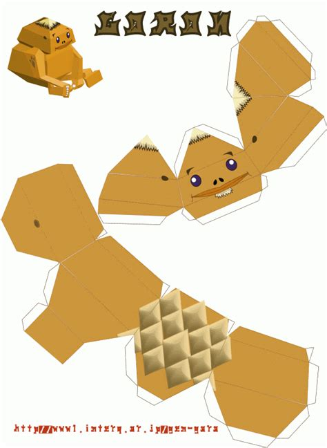 Papercraft For - free paper craft goron nintendo papercraft the