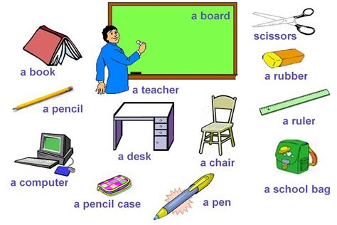pictures of things school esl resources