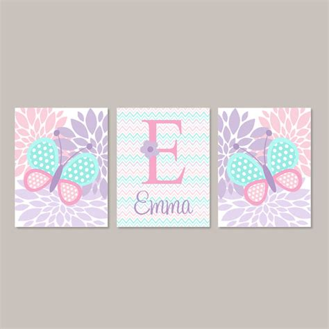 Butterfly Wall Decor For Nursery Baby Nursery Decor Butterfly Wall Pink Aqua Lavender