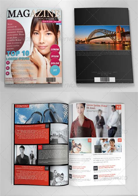 photoshop magazine template 34 high quality psd indesign magazine templates web