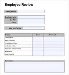 review template employee performance review template cyberuse