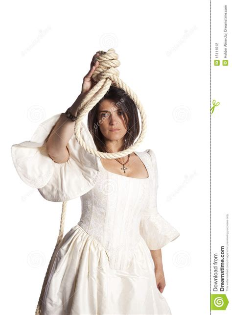 Raveena Rope Dress X S M L with a hanging rope stock photography image 16111012