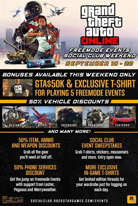 Social Events Of The Weekend by Exclusive Unlocks In Discounts And More In The Gta