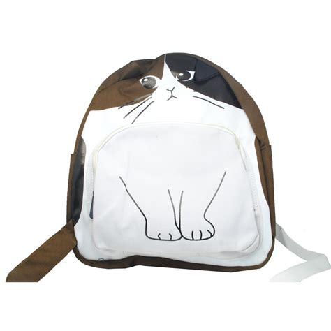 Tas Wanita Backpack Catty Sleep tas ransel wanita model cat coffee