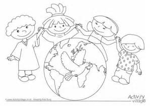 World Peace Day Coloring Pages Sketch Page sketch template