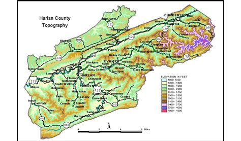 harlan ky map protected areas of harlan county kentucky