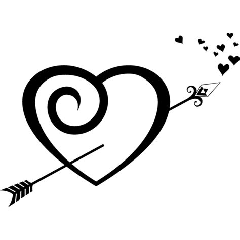 imagenes de corazones con flechas corazon y flecha vinilowcost