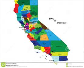 state of california map stock vector image of city chart