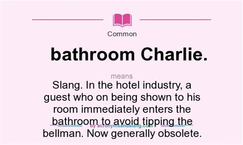 meaning of bathroom what does bathroom charlie mean definition of bathroom charlie bathroom charlie