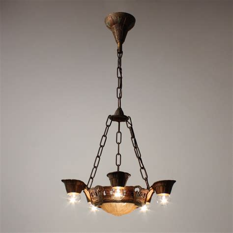 slip shade chandelier delightful antique five light deco slip shade chandelier lincoln fleur de lis nc1510 rw