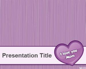 Violet Mother S Day Powerpoint Template Is A Free Mothers Day Template For Microsoft Powerpoint Powerpoint Templates Free Violet