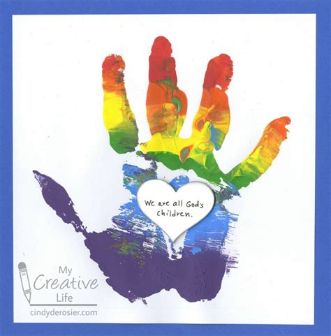 handprint crafts we are all god s children handprint craft family