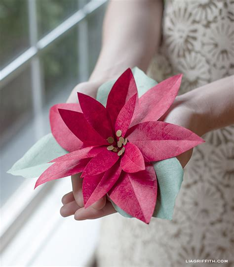How To Make Paper Poinsettia Flowers - diy paper poinsettia