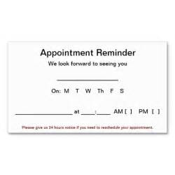 appointment cards templates free appointment reminder cards 100 pack white business