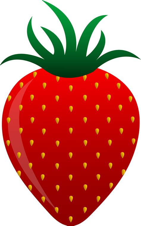 strawberry clipart red strawberry vector art free clip art