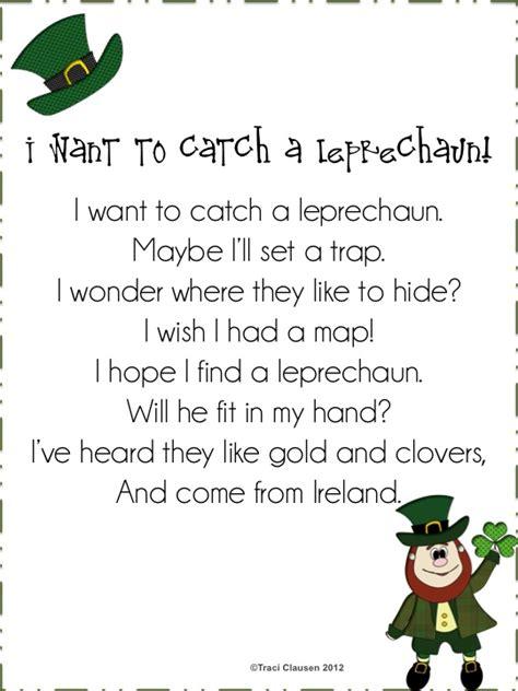 poem from a leprechaun shamrock acrostic poem poem them teaching blog addict i want to catch a leprechaun