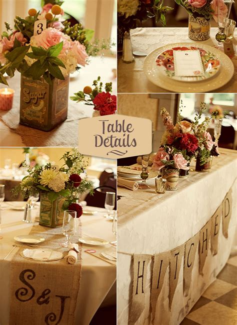Vintage Wedding Table Decorations by Fabulous Feature Neo Vintage Wedding By Whimsy Decor