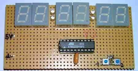 avrprojects home very simple avr clock project embedded projects from