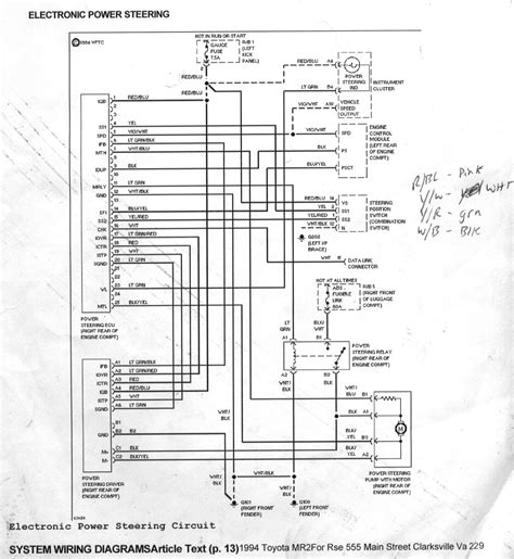 1992 toyota mr2 wiring diagrams wiring diagram schemes