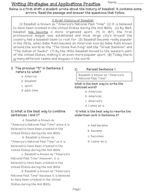 editing and revising worksheets 11 best images of editing worksheets grade 3 daily