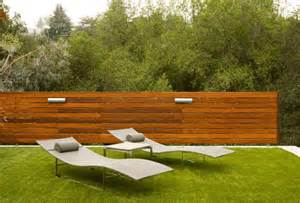 how a horizontal wood fence can impact the landscape and