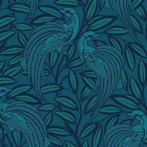 blue patterned wallpaper uk a shade wilder tailfeather peacock designer wallpaper blue