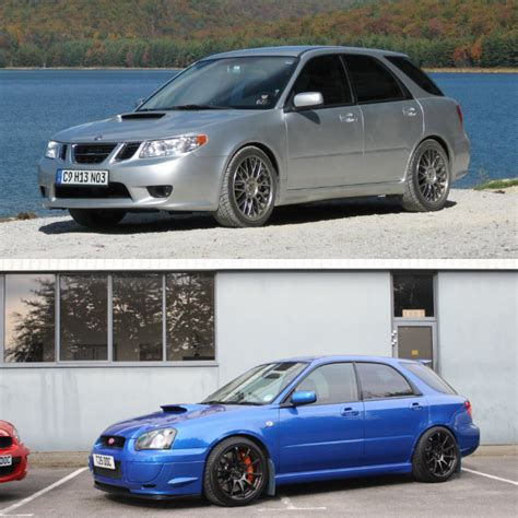 saabaru 9 2x do you prefer the saab 9 2x aero or the subaru impreza wrx