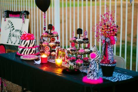 zebra themed birthday party ideas this sweet 16 has zebra print written all over it b