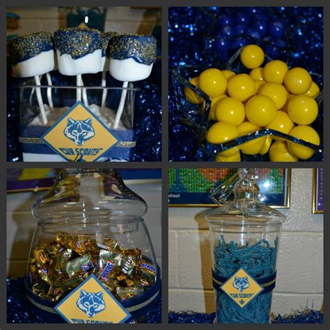 themes for blue and gold banquet blue n gold dinner stuff candy buffets pinterest
