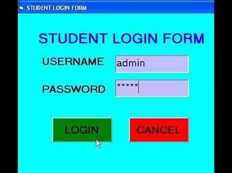 tutorial visual basic 2015 pdf computer gyan student login form using visual basic 6 0
