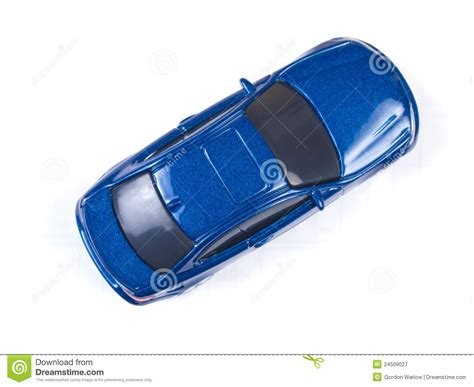 car toy blue miniature blue toy car on white background stock image