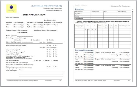 free layout design application job application form blue layouts