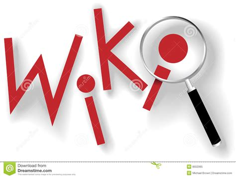 Find Info On Wiki Find Information Magnifying Glass Shadows Stock Vector Illustration Of