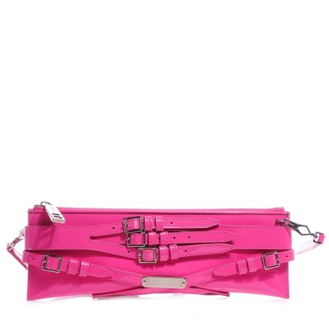 Burberry Patent Ashcombe Clutch Handbag by Burberry Patent Bridle Clutch Bag Pink 62601