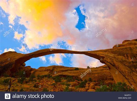 World Landscape Arch Landscape Arch Arches National Park Utah One Of The