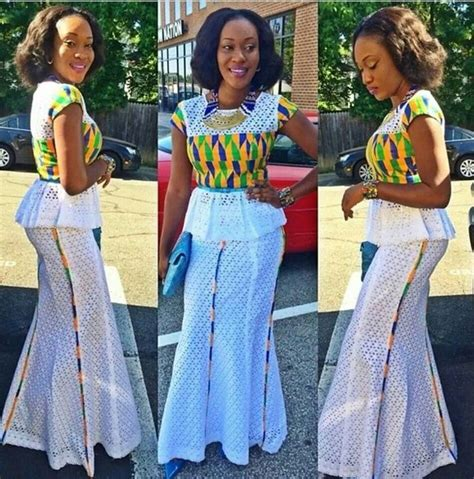 latest ovation style kente with lace latest african fashion african prints