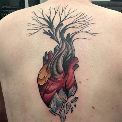 broken heart tattoos for men 40 tree back designs for wooden ink ideas