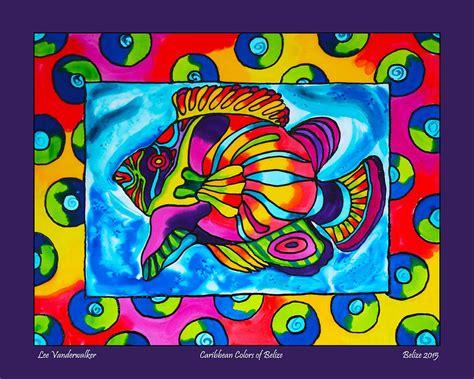 caribbean colors caribbean colors of caye caulker belize painting by