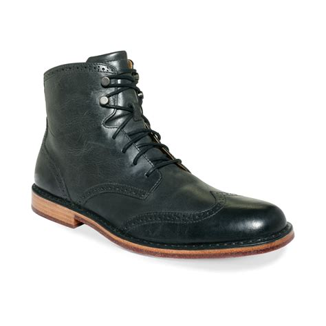 sebago boots sebago hamilton ii wing tip boots in green for black