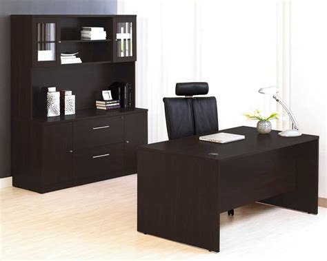 Espresso Office Desk Unique Furniture 100 Series Espresso Office Desk Credenza Set Je100combo14esp