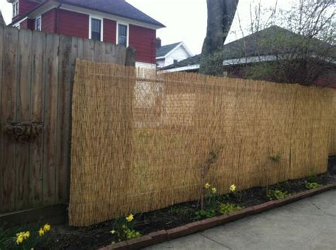 backyard xscapes how to install a bamboo reed fence hometalk