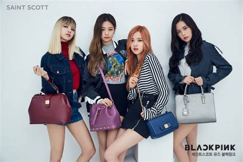 blackpink official profile photo blackpink for f w collection of saint scott kpopmap