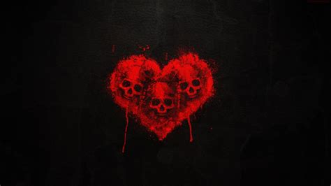 wallpaper dark heart skull heart art dark red wallpaper 1920x1080 478275