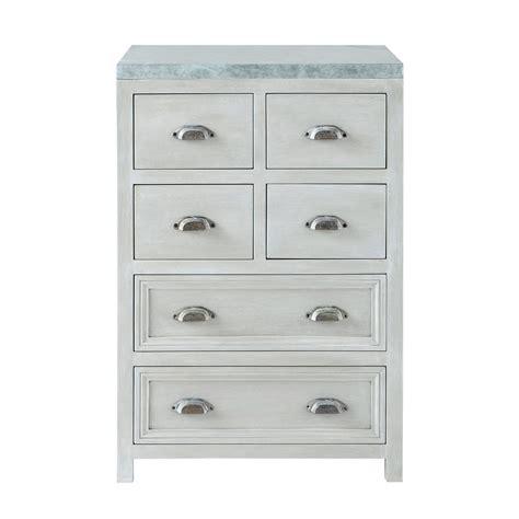 meuble cuisine 60 cm meuble bas de cuisine en bois d acacia gris l 60 cm zinc maisons du monde