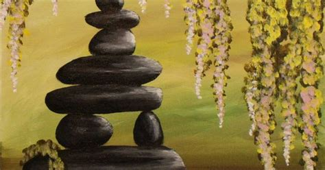 paint nite zen zen pond step by step acrylic painting on canvas for