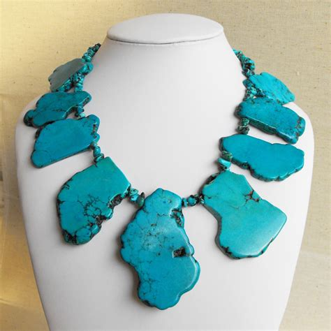 emily iii chunky freeform turquoise slab